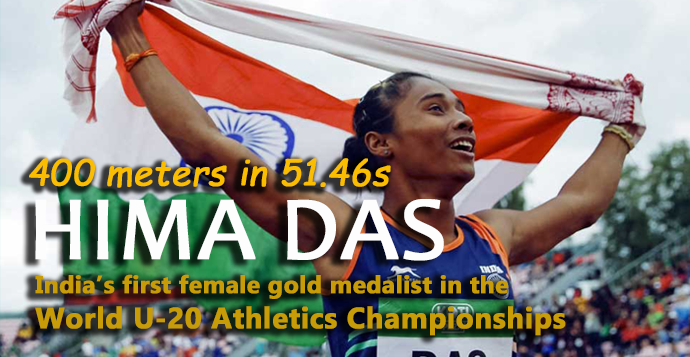 Hima Das creates history, wins India's first international gold in track events